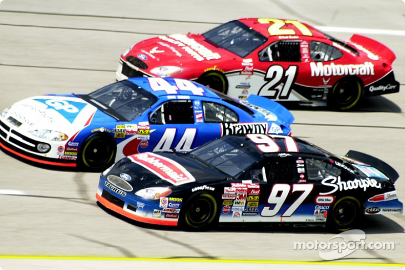 Kurt Busch, Steve Grissom and Elliott Sadler