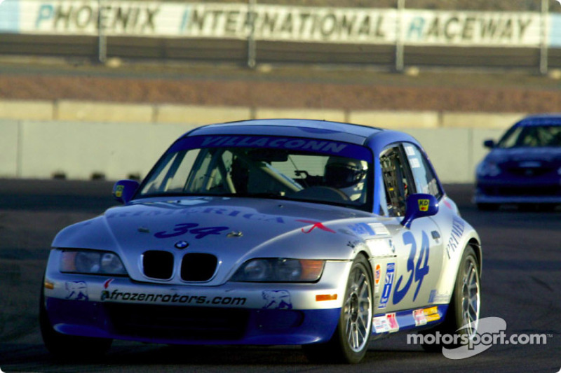 The #34 BMW Z3 of Villaconn International led from the pole to the checkered in the UnitedAuto Touring 250