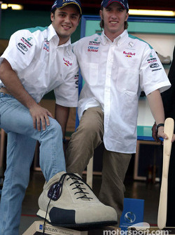 Partenariat entre Sauber et Ammann : Felipe Massa et Nick Heidfeld