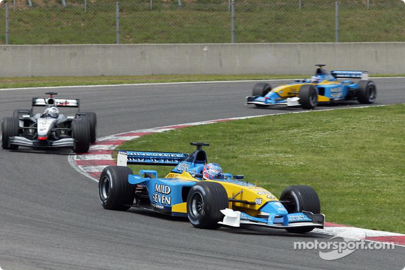 Jenson Button, David Coulthard y Jarno Trulli
