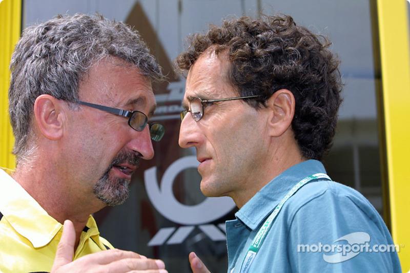 Eddie Jordan y Alain Prost