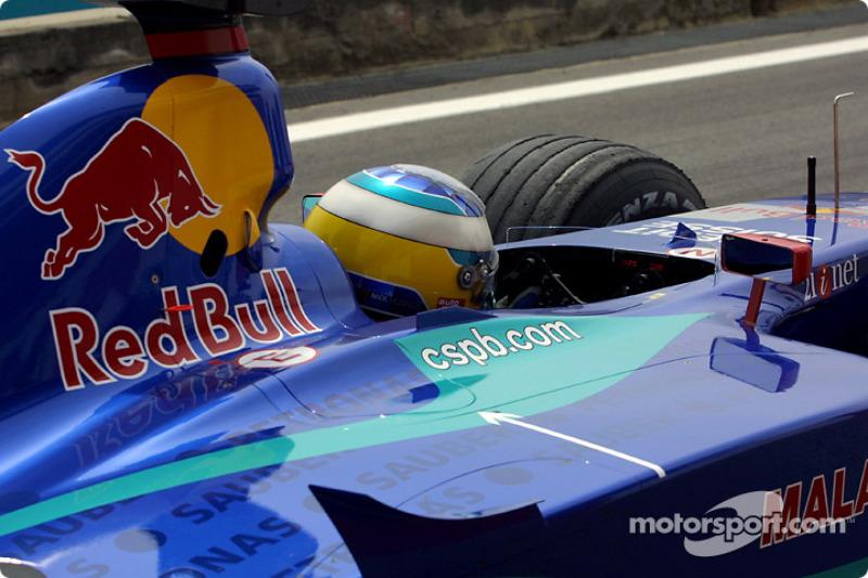 Nick Heidfeld on the grid