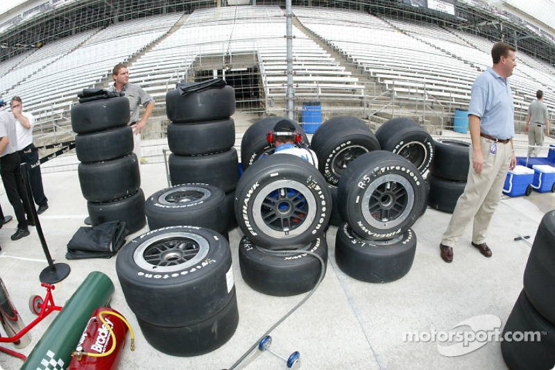 A stack of Firestone tires
