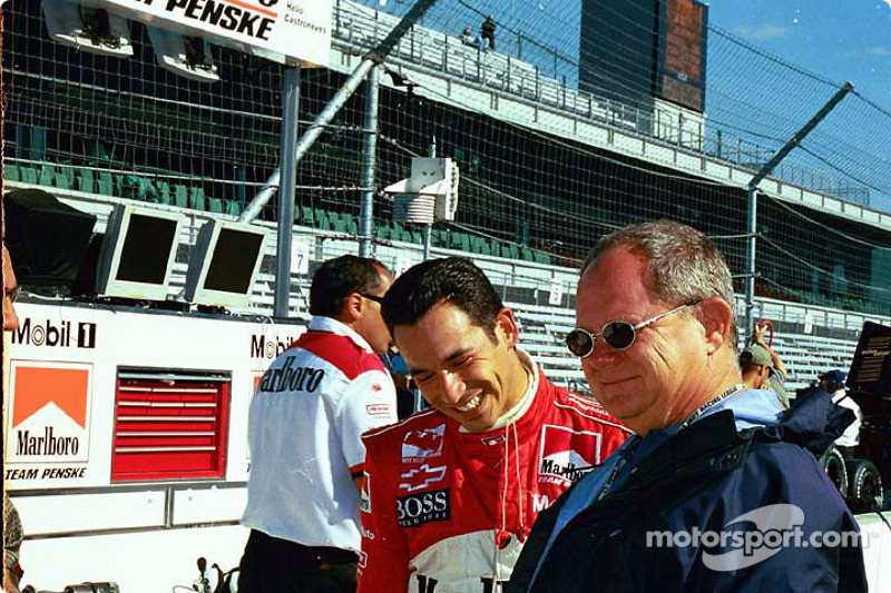 Helio Castroneves and Paul Page