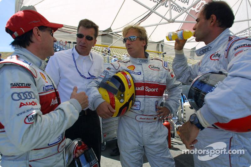 Rinaldo Capello, Ralf Jüttner, Frank Biela Emanuele Pirro