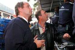 Gerhard Berger y Nigel Mansell