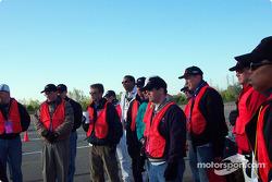 Volunteers listen intently to SCCA chief