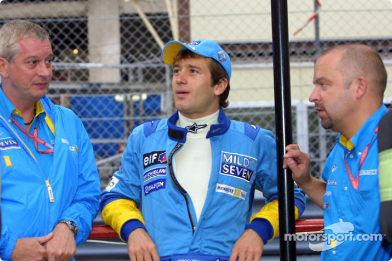 JarnoTrulli, Pat Symmonds y Mike Gascoyne
