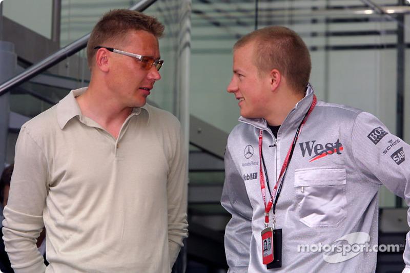 Mika Hakkinen and Kimi Raikkonen