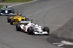 Olivier Panis, Takuma Sato y Felipe Massa