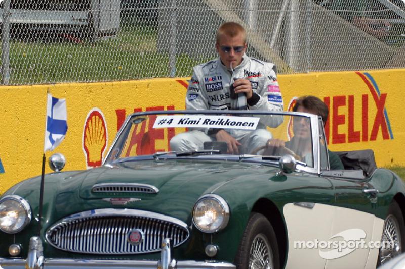 Desfile de pilotos: Kimi Raikkonen