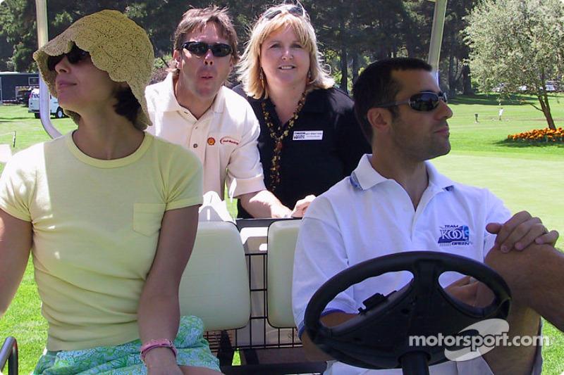 Golf tournament: Ashley Judd and Dario Franchitti