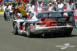 The Larbre Competition Chrysler Viper GTS-R at the finish line