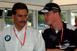 BMW Motorsport Director Dr. Mario Theissen with Ralf Schumacher