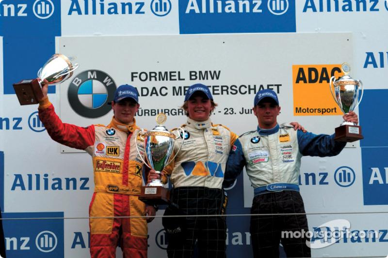 Nico Rosberg, ganador del segundo heat de la carrera BMW ADAC Championship
