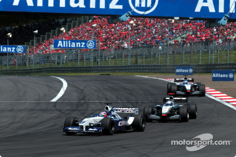 Juan Pablo Montoya and David Coulthard