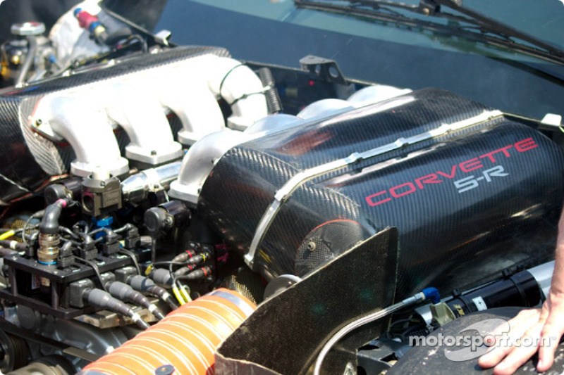 Corvette Racing Chevrolet Corvette C5-R engine at Mid-Ohio