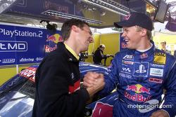 Ingeniero de carrera, Alex Stehlig con Mattias Ekström