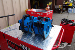 Twin cooler fans for Dodge Winston Cup car