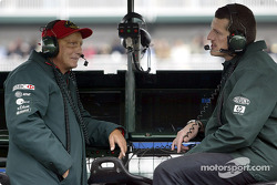 Niki Lauda and Guenther Steiner