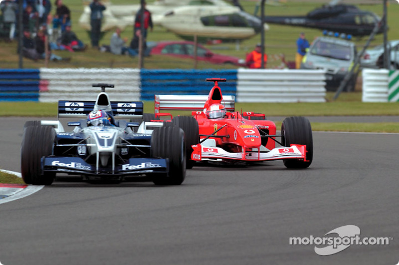 The Juan Pablo Montoya and Michael Schumacher battle