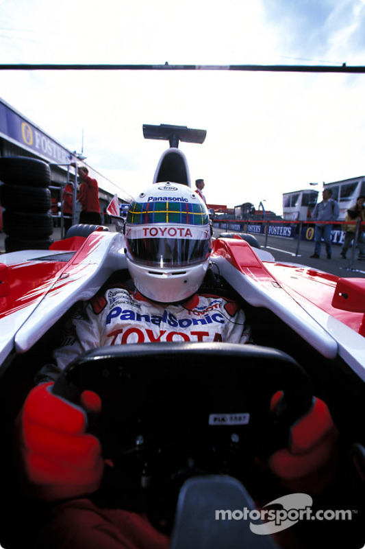 Pitstop simulation with Team Toyota and Allan McNish