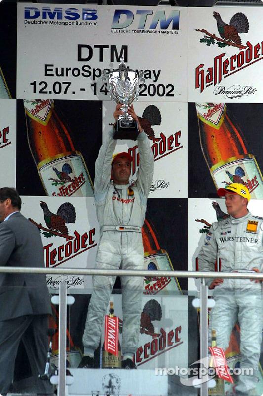 The podium: race winner Bernd Schneider and Marcel Fassler