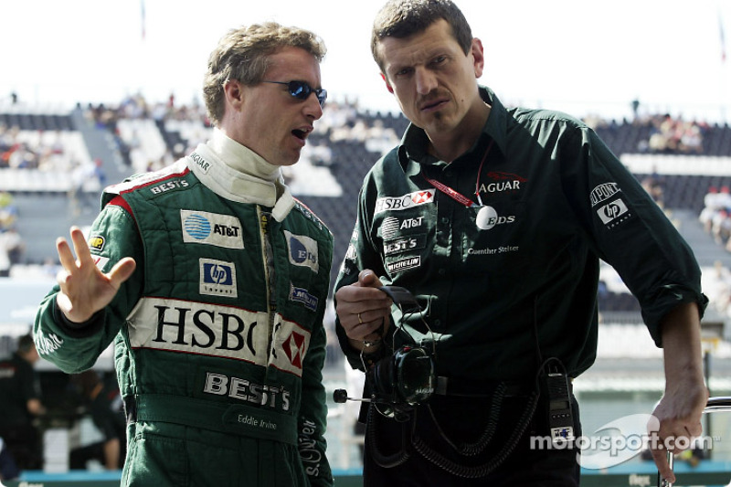 Eddie Irvine and Guenther Stainer