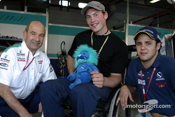Peter Sauber, Felipe Massa and a new fan