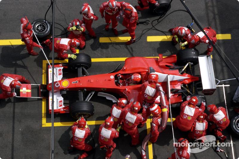Піт-стоп для Міхаеля Шумахера, Ferrari
