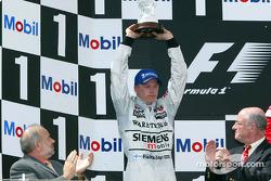 The podium: Kimi Raikkonen