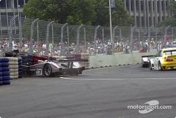 Eric Bernard in the tire wall