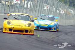 A pair of Porsche 911 GT3-RS