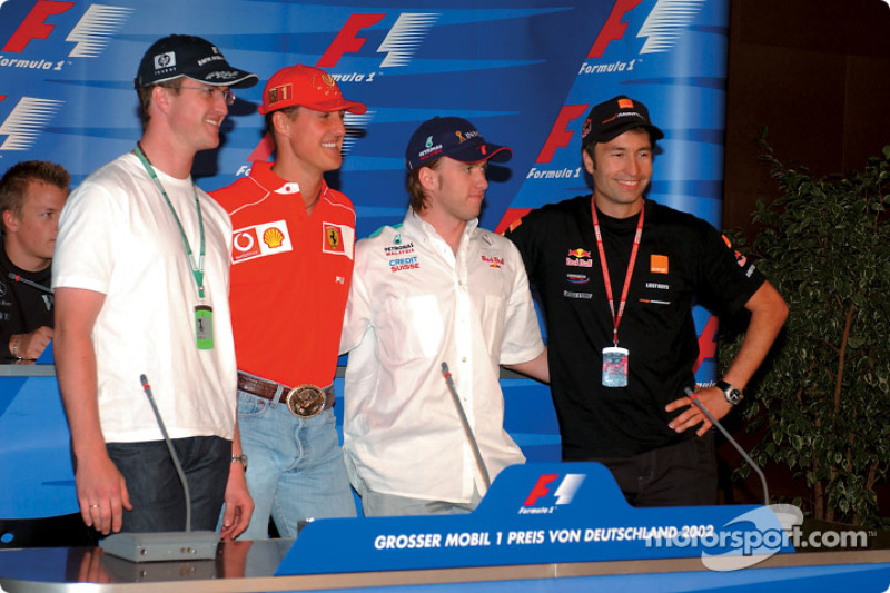 Thursday FIA press conference: Ralf Schumacher, Michael Schumacher, Nick Heidfeld and Heinz-Harald Frentzen