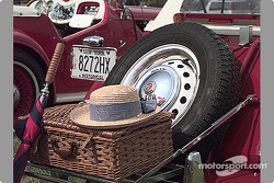Basket on rear of MG