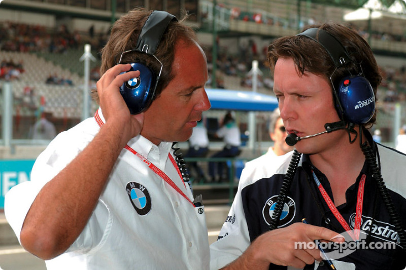 Gerhard Berger and Sam Michael