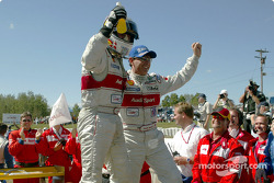 Race winners Tom Kristensen and Rinaldo Capello