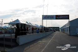 Pitlane early in the morning