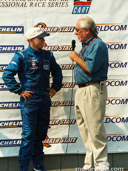 Chris Pook with champion A.J. Allmendinger