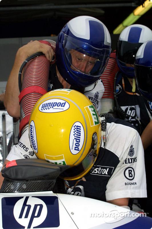 Parada de prácticas para el Equipo Williams-BMW