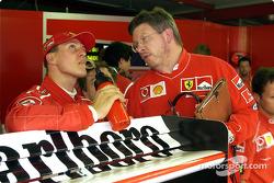 Михаэль Шумахер и Росс Браун, Ferrari