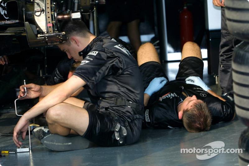 Preparándose para el día en McLaren