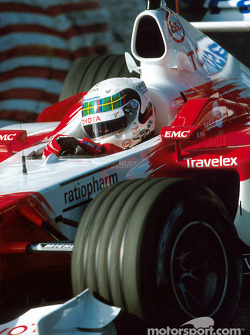 Allan McNish during the warmup session