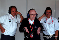 Frank Williams, Gerhard Berger and Dr. Mario Theissen look happy