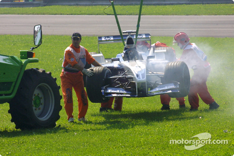 End of the race for Ralf Schumacher