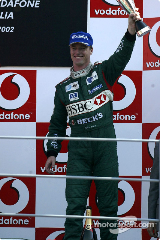 The podium: Eddie Irvine