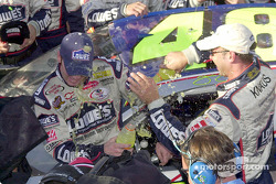 Jimmie Johnson soaks his crew chief