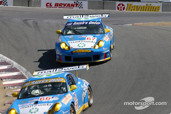 The two Racer's Group Porsche 911 GT3-RS