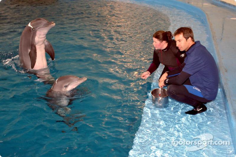 Visit of the Indianapolis Zoo: Heinz-Harald Frentzen