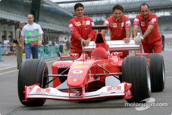 Ferrari crew members